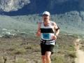 Carl Hunt, running the Lost Dutchman Marathon in Apache Junction, AZ 1/19/03