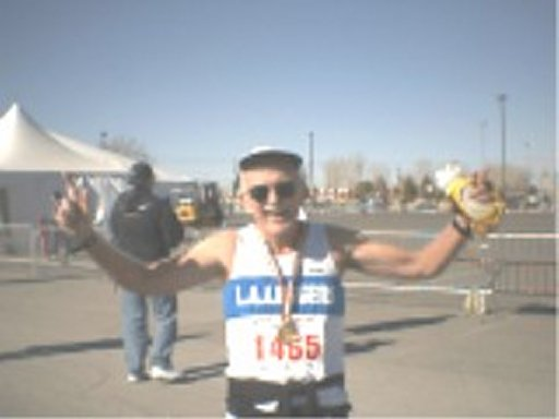 Charles Sayles finishes the Las Vegas on 1-25-04.