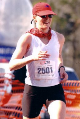 Bekkie Wright finished 2nd in the Masters at the Myrtle Beach Marathon 2004.