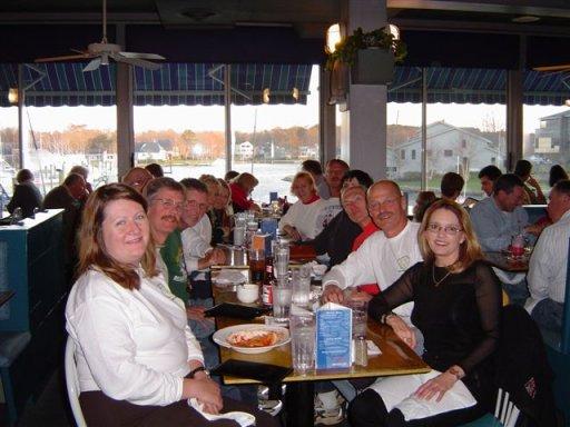 Celebration Dinner at Rockfellers in Virginia Beach after the Shamrock Marathon 2004.
