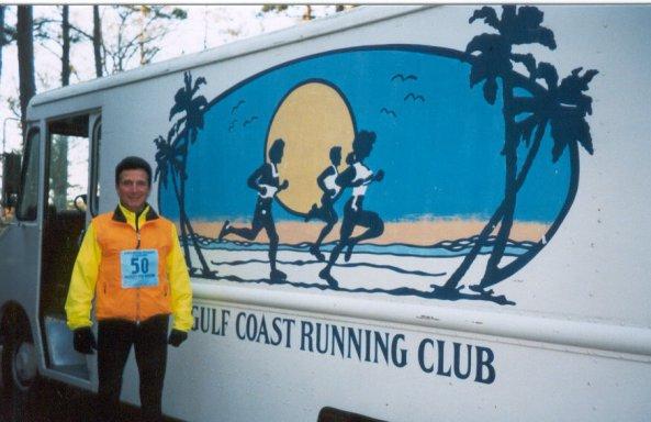 Franceso Criniti at his 50th state Marathon at the Mississippi Coast Marathon on November of 2003.