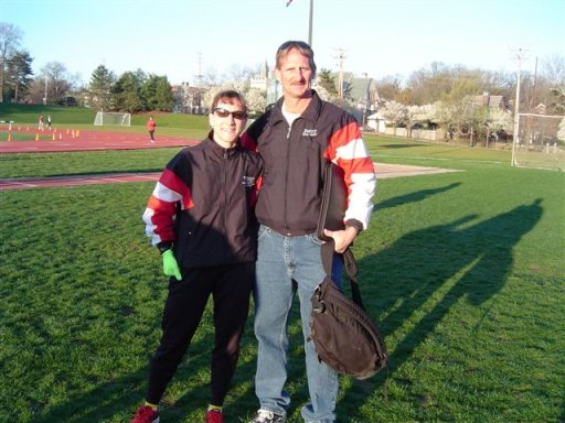 Wendy Hall & Jerry Schaver at the Women's Olympic Marathon Time Trials 2004.