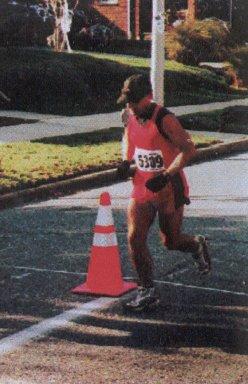 Daniel Wilson running the Cleveland Marathon.