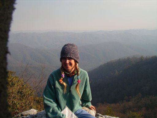 Marit Schultz, (LuLu) at White Cliffs on the Appalachian Trail.