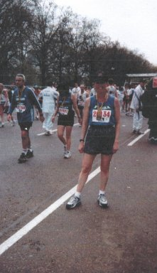 Bonnie Baker, after finishing the London Marathon.