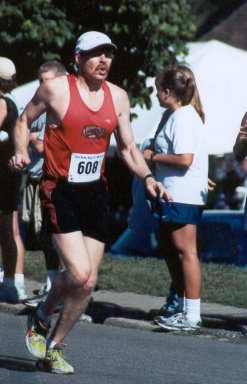 Mark LeDuc, running towards the finish line for a great finish.