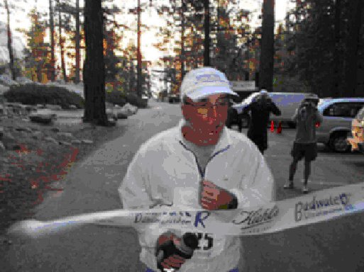 Mike Brooks finishing the Badwater Ultra with the time of 46 hrs and 17 minute.