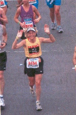 Marie Bartoletti running the Rock 'N Roll Marathon in San Diego 06/06/04.