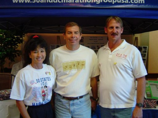 Shirley Pratt, Jim Lewis and Jerry Schaver at QC Expo Sept. 25th, 2004