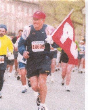 Richard Friedrichsen off to a good start running a Marathon.
