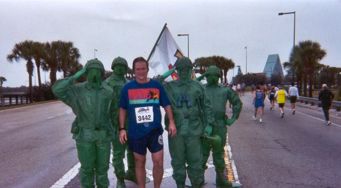 Paul Fournier running the Disney Marathon in 2002.
