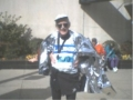 Charles Sayles, after finishing the Mercedes Benz Marathon 02/08/04