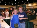 Marie Bartoletti and Bill Rogers at the Little Rock Marathon Expo 2004.