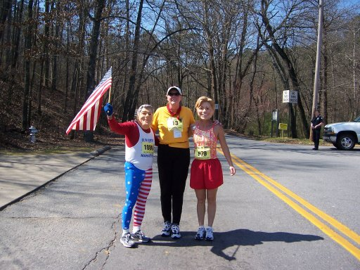 Jose and Helene with First lady from Arkansas at the Little Rock Marathon 2005