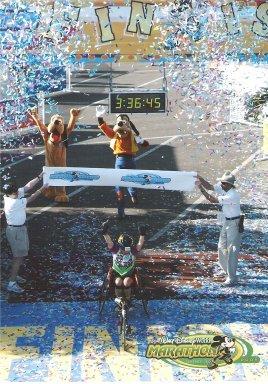 Buddy Hayes finishing the Disney Marathon. 01/09/05