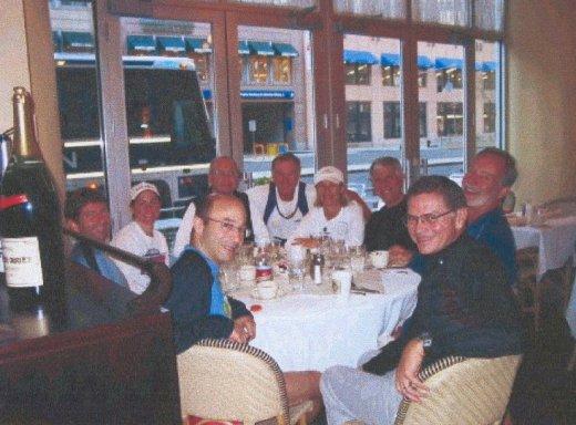 The Sarasota gang enjoying their pre-race breakfast at Boston. 4/18/05