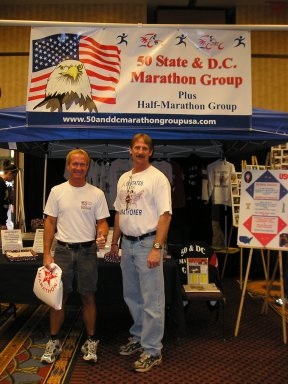 Dan Wilson and Jerry Schaver at the 50 & DC Booth in Lincoln NE. 04/30/05