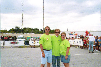 Jerry Schaver, Bill Rogers, Laurie Church helping out at the Quad City Jr. Bix 2005