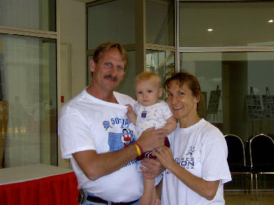 Jerry Schaver, Sebastian and Wendy Terris at the DesMoines Expo September 17, 2005