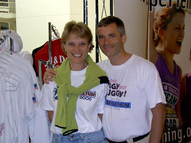 Timothy and JoAnne Bowers from Minnetonka, Minnesota. They run all their Marathons together as a couple