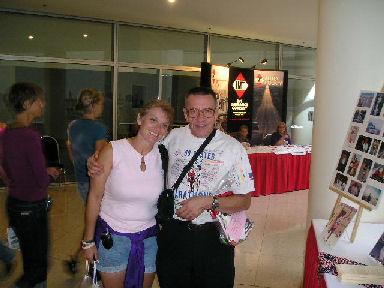 Randall Hansen and Lisa Buzek, soon to be Mr. and Mrs. Randall Hansen at the DesMoines Marathon Expo.