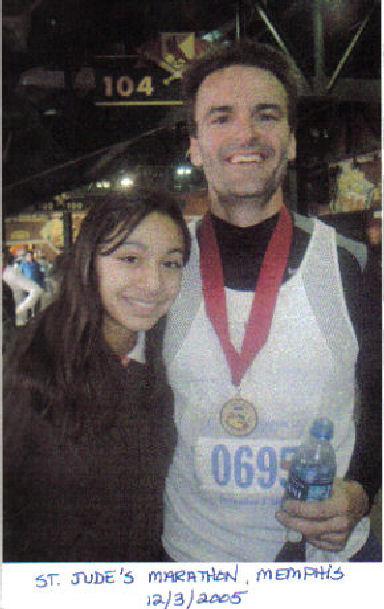 Steven Elster after finishing the St. Jude's Marathon in Memphis on 12/08/05.