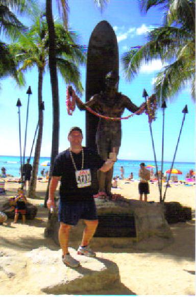 Clay Rice after running the Honolulu Marathon 12/11/05.