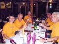 John Wallace and friends at the Celebration Dinner in Bihac, Bosnia