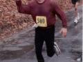 Tom Hosner, running the Seattle Marathon in November in 1996.
