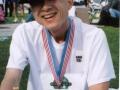 Hiroyuki Nishide after finishing the Philadelphia Marathon 11/23/03