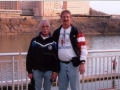 Mike Trynor and Jerry Schaver outside at Calhoun's on the River. 3/20/05