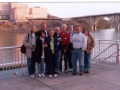 Hiroyuki & Yukiko Nishide, Jerry Schaver, Laurie Church, Mike Traynor, Ira & Geri Robinson, and Jackie & Sue Duncan outside Calhoun's in Knoxville, TN. 3/20/05