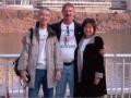 Hiroyuki Nishide, Jerry Schaver, & Yukiko Nishide outside at Calhoun's on the River in Knoxville, TN. 3/20/05