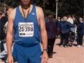 Thomas Brooks after finishing the Chicago Marathon. 10/07/01