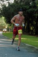 Robert Gustafson running the Kiawah Island Marathon, South Carolina, in December 2005.