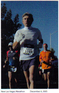 Thomas Brand from New Jersey enjoying the New Las Vegas Marathon December 04, 2005.