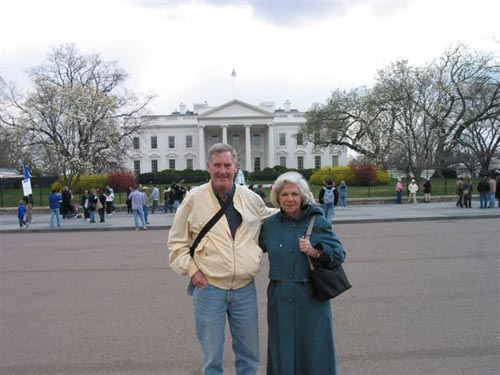 Maddog and the Sports Manager (Nicole) visiting the White House 2006.