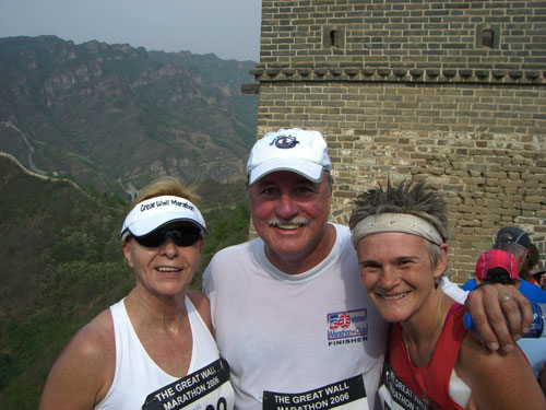Craig, Sue, and Mieka on the first passage of the Great Wall 2006