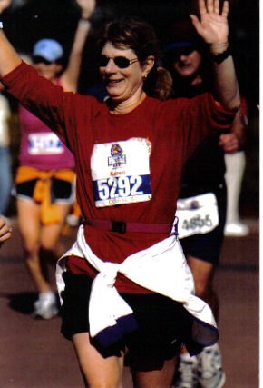 Karen Utterback enjoying the Disney Marathon 01/08/06.