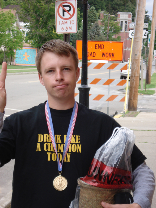 Stephen Yoder after the God's Country Marathon.