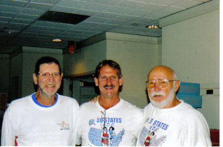 Norm Frank, Jerry Schaver, and Don McNelly at the Rochester, NY Marathon Expo 09/16/06.