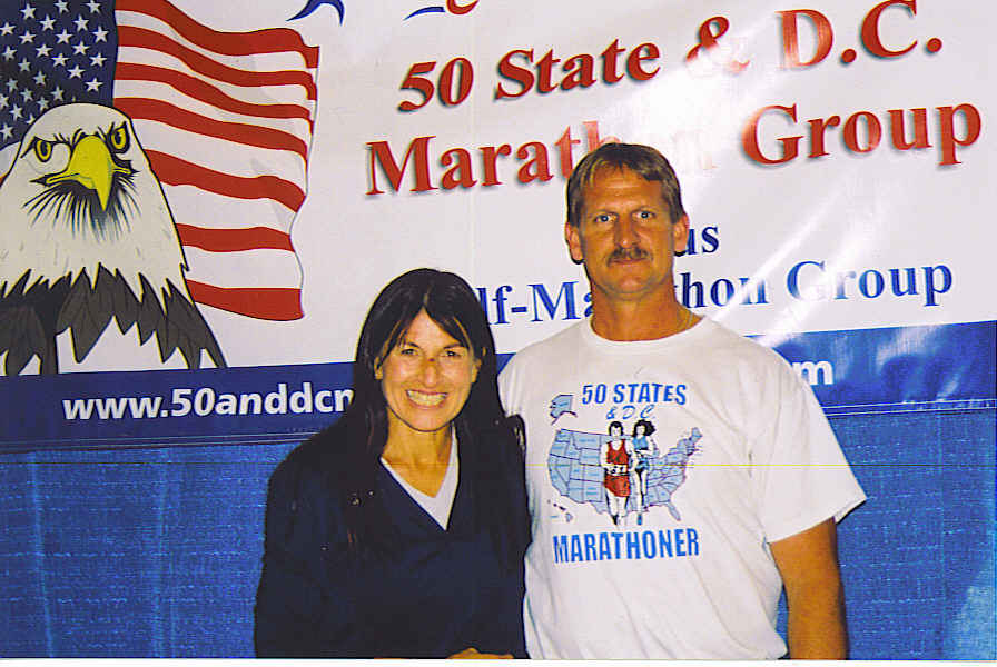Patti Catalano Dillion and Jerry Schaver at the Quad City Expo 09/23/06.