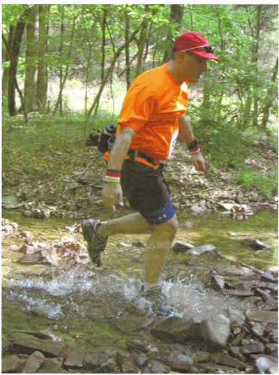 Larry Herman at the Capon Valley 50K in WV 2005