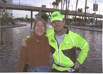 Eddie Hahn at long Beach, CA Marathon with his Mom Gay Leisure on 10/14/06.