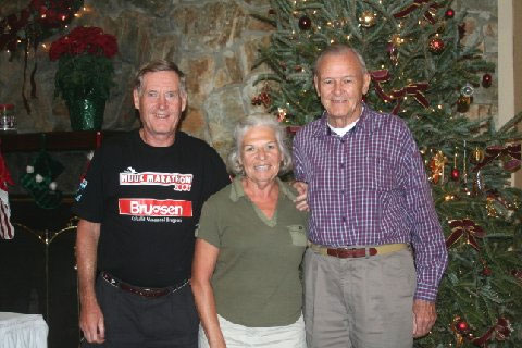 Maddog with wife and Wally Herman 81 has run 687 marathons and is the world record holder with 99 countries!