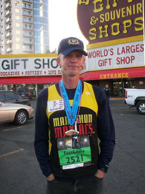 Eddie Hahn after the Las Vegas Marathon on 12/10/06.