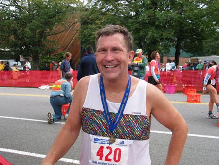 Randy Thierman after finishing the Manie Marathon on 10/01/06.