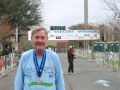 A very happy Maddog at the finish line in Gainesville, Florida on 02/19/06.