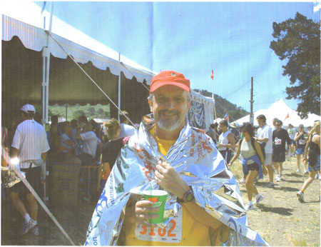 Bob Ross after finishing the Big Sur Marathon with a time of 4:47:40 on 04/25/04