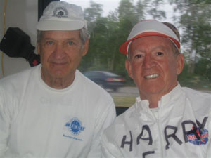 Harry Hoffman with friend at the Anchorage Marathon on 06/23/07.